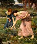 Carpe Diem: Gather Ye Rosebuds While Ye May, by John William Waterhouse. image from upload.wikimedia.org