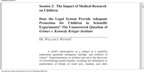 Click to read abot the Impact of Medical Research on Children