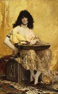 Salomé, by Henri Regnault (1870).  Click the pic to see more... image from upload.wikimedia.org