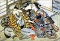 Bisexuality - Shudo (Japanese pederasty): a young male entertains an older male lover, covering his eyes while surreptitiously kissing a female servant.  Click the pic to see more... image from upload.wikimedia.org
