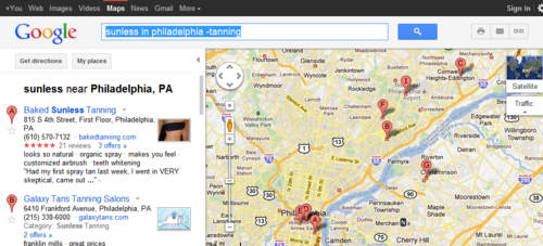 sunless in philadelphia -tanning - Google Maps  Click the pic to see more... image from psychout.typepad.com