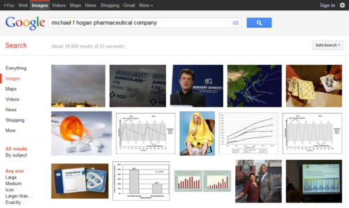 michael f hogan pharmaceutical company - Google Search  Click the pic to run the search... image from psychout.typepad.com